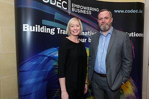 Codec Microsoft 2017 Event - Aisling Curtis - the Commercial Director at Microsoft Ireland and John Roddy - the Commercial Director at Codec