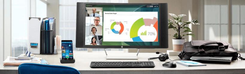 HP Elite x3 workplace